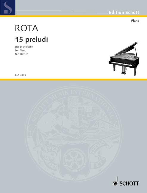 15 15 15 preludios para piano rojoa, Nino Piano 9790001130950 f36614